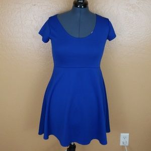 Forever 21 Cobalt Blue Scater Dress in Size XL